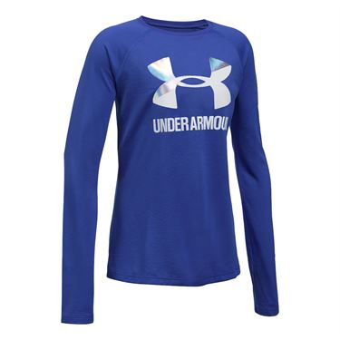 Under Armour Girls Logo Long Sleeve Top - Constellation Purple
