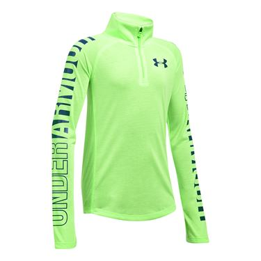Under Armour Girls Threadborne 1/4 Zip - Quirky Lime