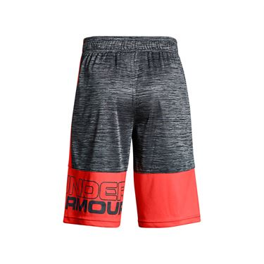 Under Armour Boys Instinct Printed Short - Stealth Gray/Neon Coral