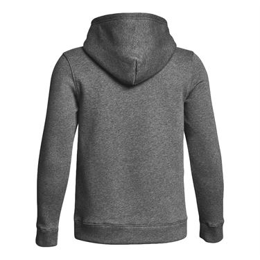 Under Armour Boys Hustle Fleece Hoody Carbon Heather/White 1300129 090