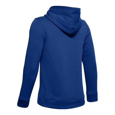 Under Armour Boys Hustle Fleece Hoody Royal/White 1300129 400