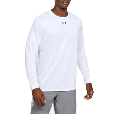 Under Armour Locker 2.0 Long Sleeve Shirt Mens White/Graphite 1305776 100