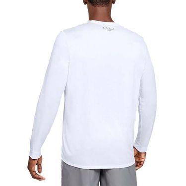 Under Armour Locker 2.0 Long Sleeve Shirt Mens White/Graphite 1305776 100