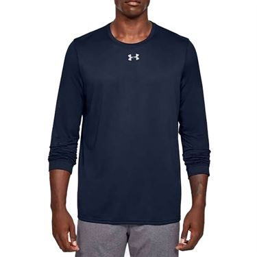 Under Armour Locker 2.0 Long Sleeve Shirt Mens Midnight Navy/Metallic Silver 1305776 410