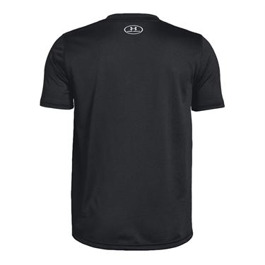 Under Armour Boys Locker 20 Tee Shirt Black/Metallic Silver 1305845 001