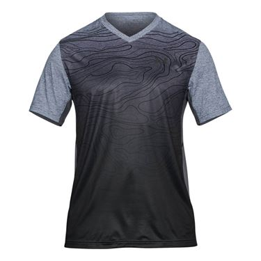 Under Armour Forge V Neck Novelty Shirt - True Gray Heather/Black