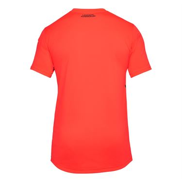 Under Armour Forge V Neck Novelty Shirt - Neon Coral/Black