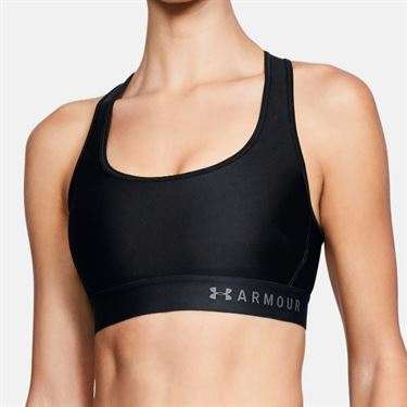 Under Armour Womens Mid Crossback Bra - Black/Graphite