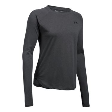 Under Armour Tri Blend Long Sleeve Top - Carbon Heather