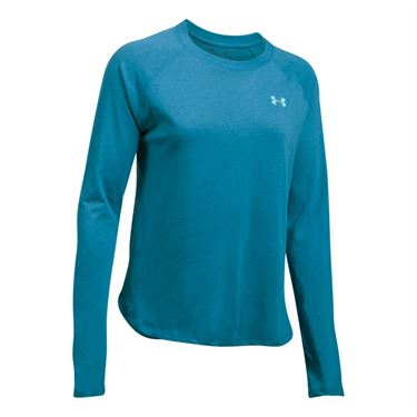 Under Armour Tri Blend Long Sleeve Top - Bayou Blue