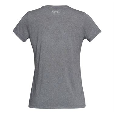 Under Armour Threadborne Graphic Twist Top - Graphite/Brilliance/Metallic Silver