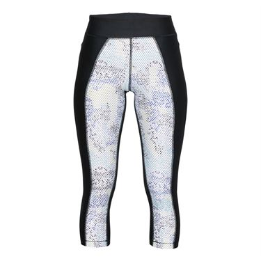 Under Armour Heatgear Print Capri - Black/Metallic Silver