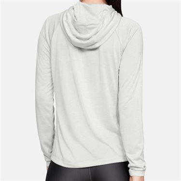 Under Armour Womens Tech Long Sleeve Hoodie - Halo Gray/Metallic Silver