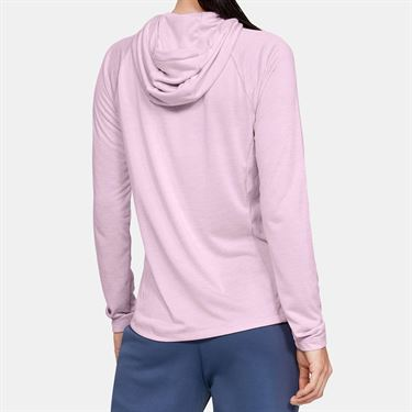 Under Armour Tech Long Sleeve Hoodie Womens Pink Fog/Metallic Silver 1311501 694
