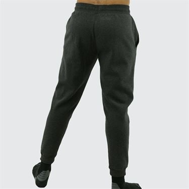 Under Armour Hustle Fleece Jogger Mens Black Light Heather/White 1317455 002