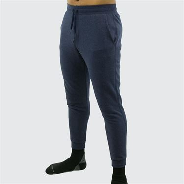 Under Armour Hustle Fleece Jogger Mens Midnight Navy Light Heather/White 1317455 411
