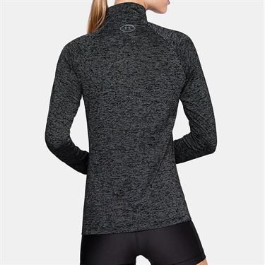 Under Armour Tech 1/2 Zip Womens Black/Metallic Silver 1320128 001
