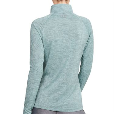 Under Armour Tech 1/2 Zip Womens Hushed Turquoise/Metallic Silver 1320128 396