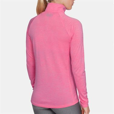 Under Armour Tech 1/2 Zip Womens Lipstick/Metallic Silver 1320128 691