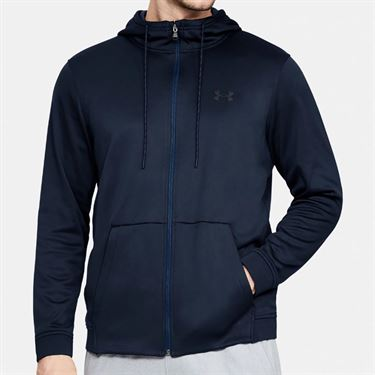 Under Armour Fleece Full Zip Hoodie Mens Academy/Black 1320744 408