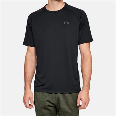 Under Armour Tech 2.0 Tee Shirt Mens Black/Graphite 1326413 001