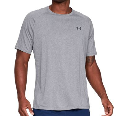 Under Armour Tech 2.0 Crew - Steel Light Heather/Black