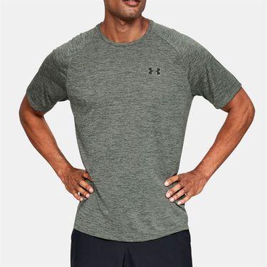 Under Armour Tech 2.0 Tee Shirt Mens Gravity Green/Black 1326413 388