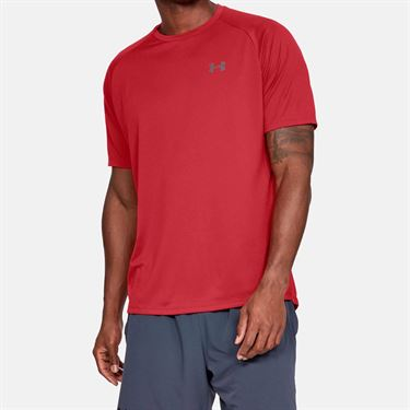 Under Armour Tech 2.0 Tee Shirt Mens Red/Graphite 1326413 600