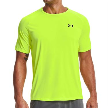 Under Armour Tech Tee Shirt Mens High Vis Yellow/Black 1326413 731
