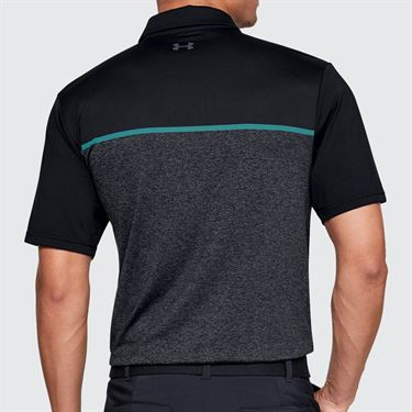 Under Armour Playoff Polo - Black/Teal Rush