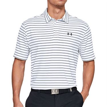 Under Armour Playoff 2.0 Polo Shirt Mens White/Black 1327037 124