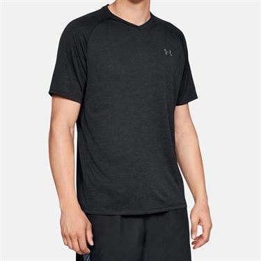 Under Armour Tech 2.0 V Neck Shirt Mens Black/Graphite 1328190 001