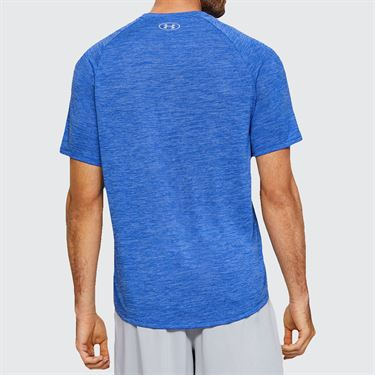 Under Armour Tech 2.0 V Neck Shirt Mens Versa Blue/Mod Gray 1328190 486
