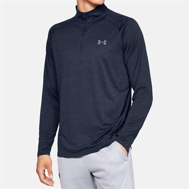 Under Armour Tech 2.0 1/2 Zip Long Sleeve Pullover Mens Academy/Steel 1328495 409