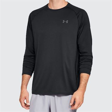 Under Armour Tech 2.0 Long Sleeve Shirt Mens Black/Graphite 1328496 001