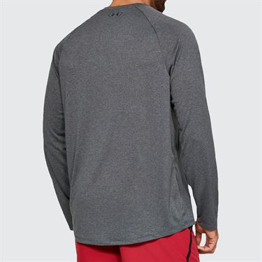 Under Armour Tech 2.0 Long Sleeve Shirt Mens Carbon Heather/Black 1328496 090
