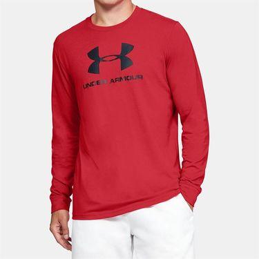 Under Armour Sportstyle Logo Long Sleeve Shirt Mens Versa Red/Black 1329283 608