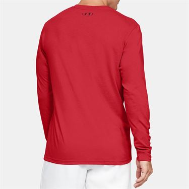 Under Armour Sportstyle Logo Long Sleeve Shirt Mens Versa Red/Black 1329283 608