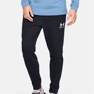Under Armour Sportstyle Terry Jogger Mens Black/Onyx White 1329289 001