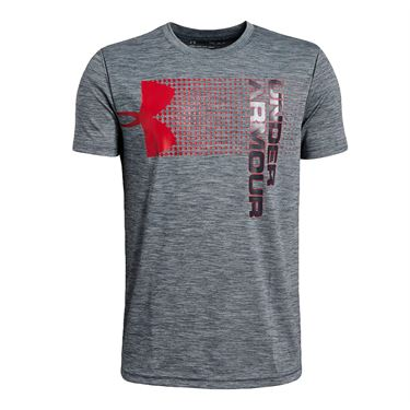 Under Armour Boys Crossfade Tee Stealth Gray/Red 1331684 008