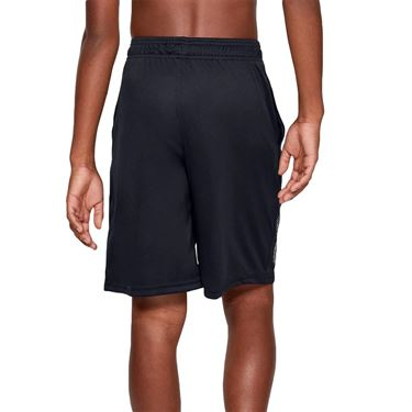 Under Armour Boys Prototype Logo Short Black/Pitch Gray 1341128 003