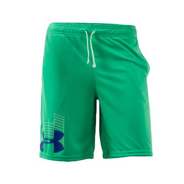Under Armour Boys Prototype Logo Short Vapor Green/Versa Blue 1341128 299