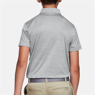 Under Armour Boys Performance Polo Shirt Mod Gray Light Heather 1342083 011