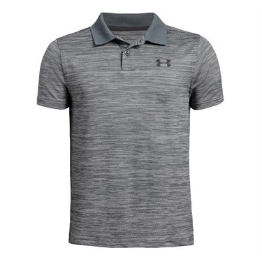 Under Armour Boys Performance Polo 2.0 Pitch Gray Light Heather/Mod Gray/Jet Gray 1342083 012