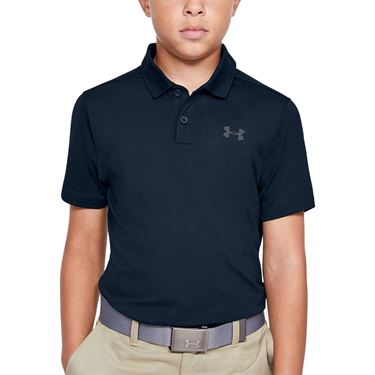 Under Armour Boys Performance Polo Shirt Academy/Pitch Gray 1342083 408