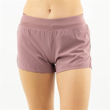 Under Armour Launch SW 3 inch Short Womens Hushed Pink/Reflective 1342837 662