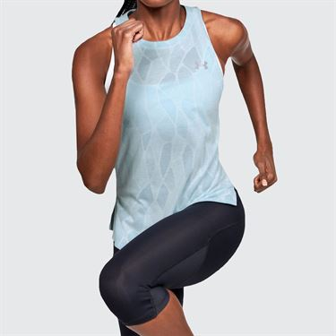 Under Armour Streaker 2.0 Shift Tank Womens Rift Blue/Blue Haze 1350072 462