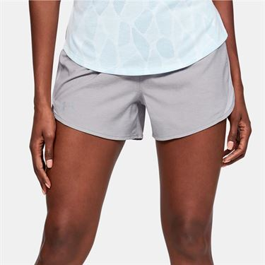 Under Armour Fly By 2.0 Short Womens Gray Wolf Full Heather 1350196 031