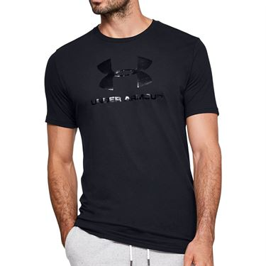 Under Armour Clear Logo Tee Shirt Mens Black 1351618 001