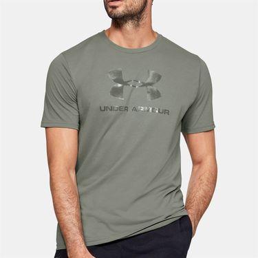 Under Armour Clear Logo Tee Shirt Mens Gravity Green 1351618 388